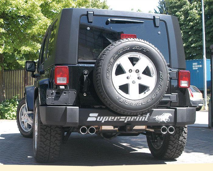 supersprint duplex sportauspuff auspuff jeep wrangler. Black Bedroom Furniture Sets. Home Design Ideas