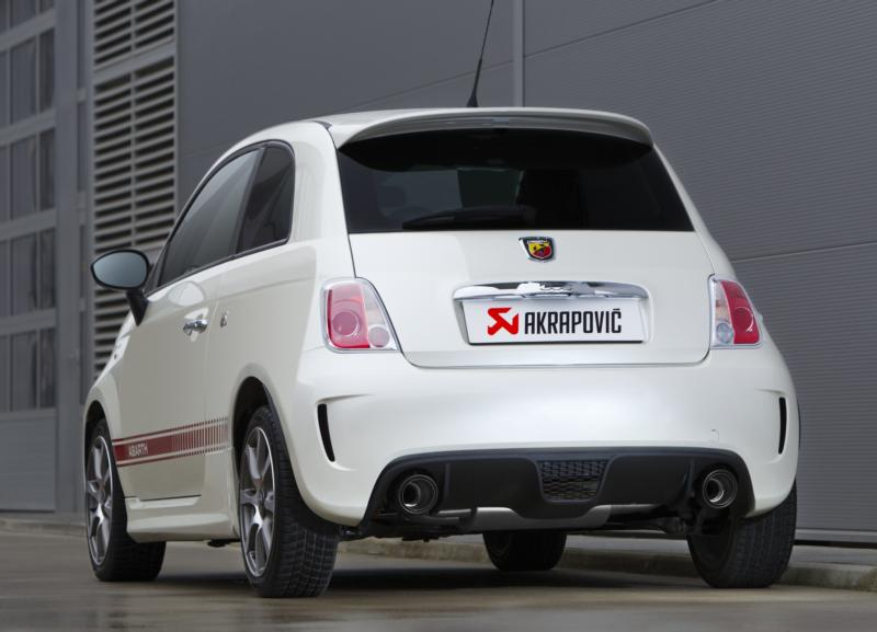 akrapovic sportauspuff abarth 500 f r fiat 500 typ 312 mit. Black Bedroom Furniture Sets. Home Design Ideas