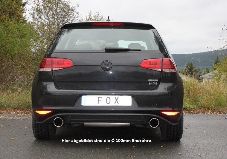 fox sportauspuff f r volkswagen vw golf 7 gti optik f r. Black Bedroom Furniture Sets. Home Design Ideas